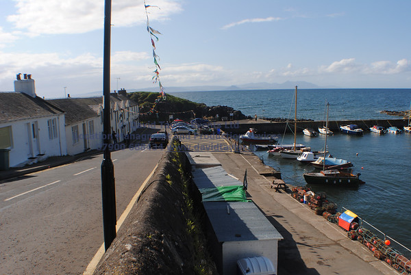 Dunure Harbour castle and cliffs NR Ayr - 03