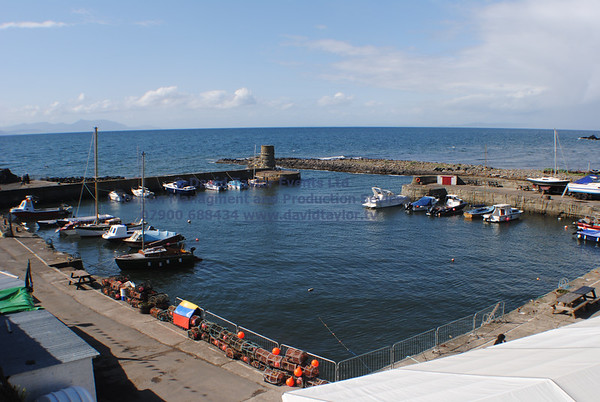Dunure Harbour castle and cliffs NR Ayr - 01