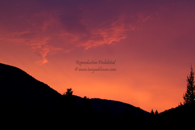 Mother Nature's fireworks - pre-sunrise rays over the Rockies. July 2012