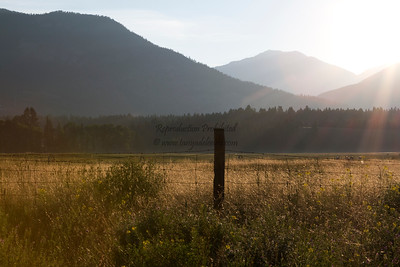 Sunrise over the Rockies. Windermere. July 2012