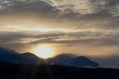 Winter sunrise over the Rockies. January 2013