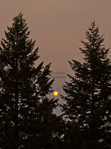 Smoky Sunset over Invermere. May 2011.