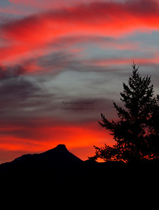 Autumn sunset, Invermere, BC. September 2012