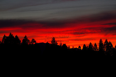 Sunset with Siberian wildfire smoke! Invermere, July 19, 2012