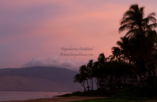 Dawn Fireworks at Kihei.