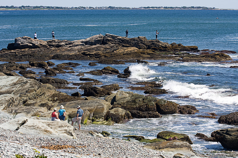 <center>Fishing off the Rocks <br><br>Sachuest Point National Wildlife Refuge<br>Middletown, RI</center>
