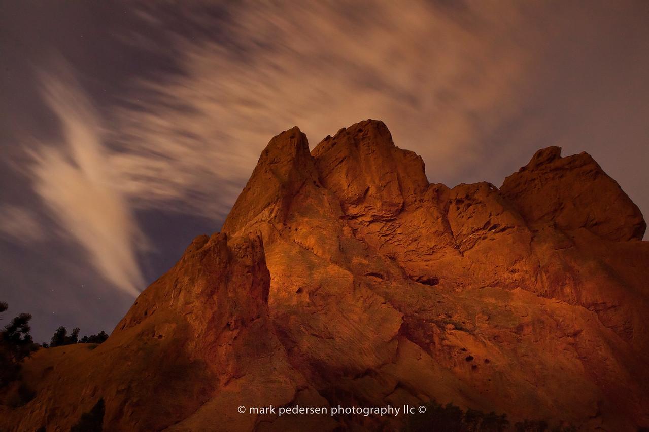 GOG-SN-02 | The Garden of the Gods under a full moon | Aug 2012 | Colorado Springs | CO
