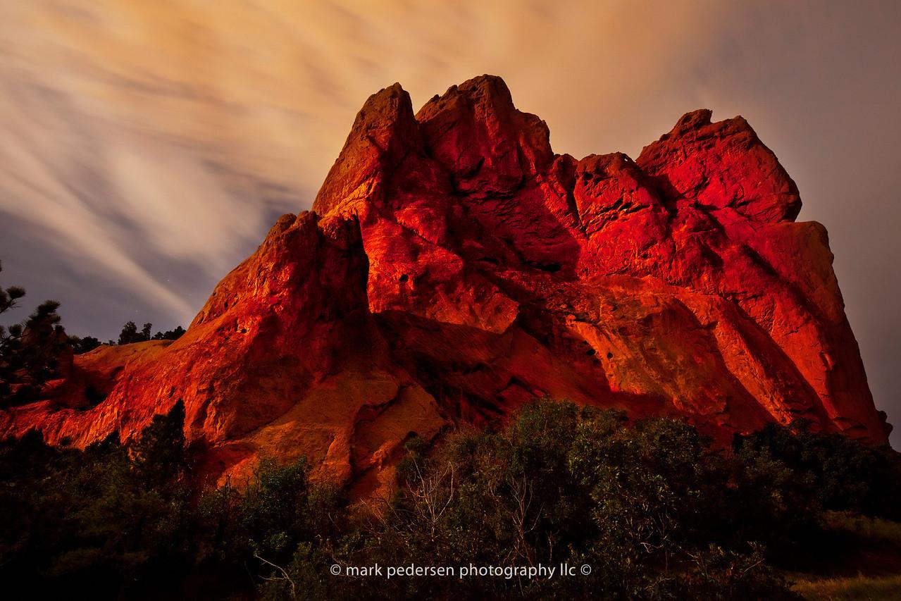 GOG-SN-03 | The Garden of the Gods under a full moon | Aug 2012 | Colorado Springs | CO