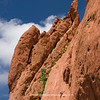 A climber scales the red-rock wall at the Garden of the Gods, Colorado Springs CO