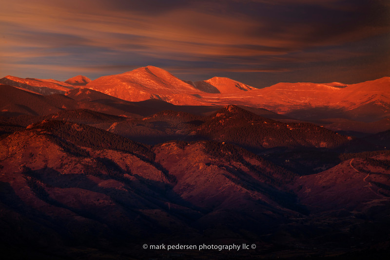 The Colorado Rockies at dawn | From Daniels Park | Highlands Ranch Colorado.