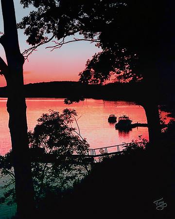 Merrimack Sunset 1 - Amesbury Massachusetts