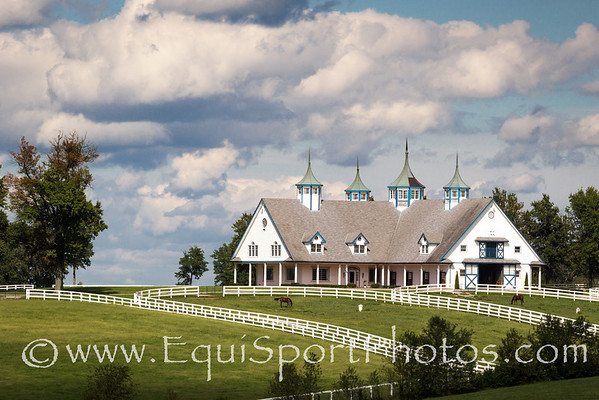 Manchester Farm, a well known landmark adjacent to Keeneland 9.08.2012