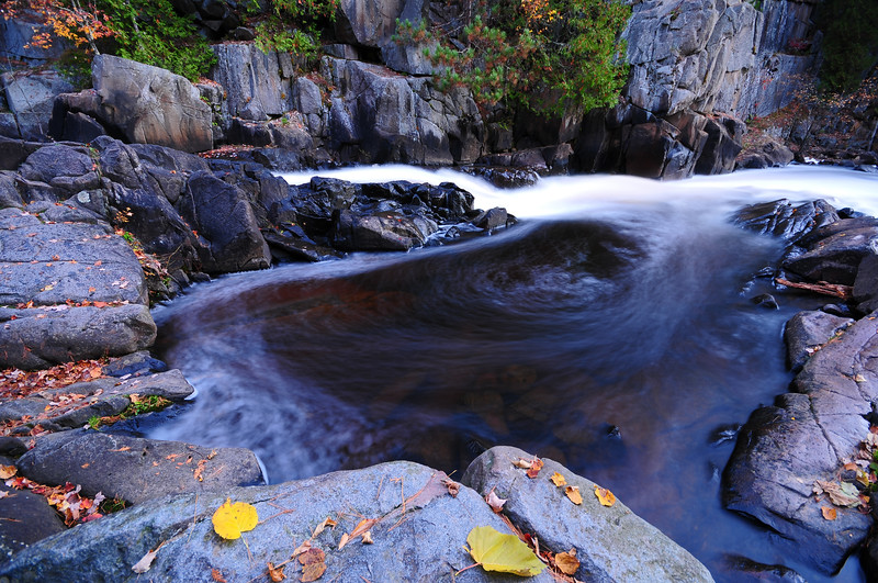 A small pool along Dave's Falls in Marinette County, Wisconsin.