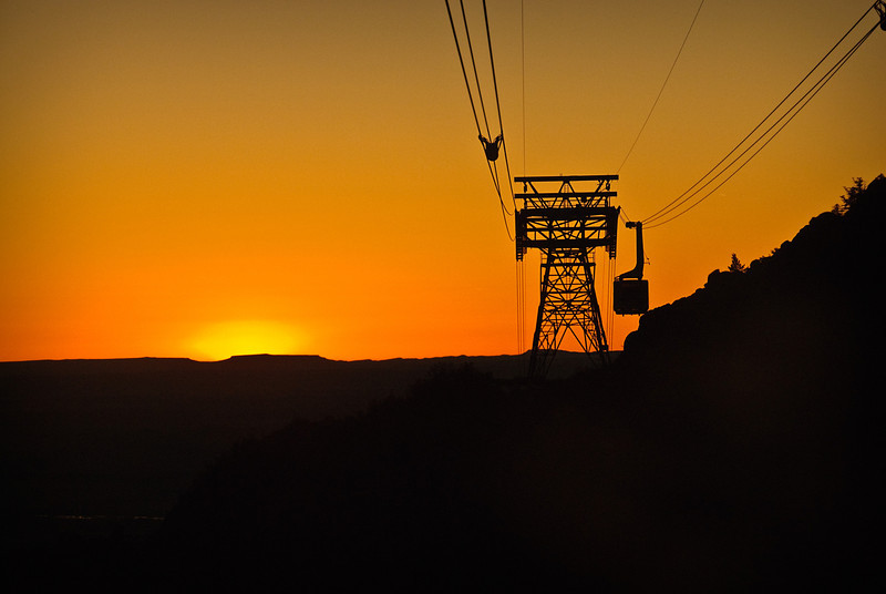 Sandia Tram Sunset