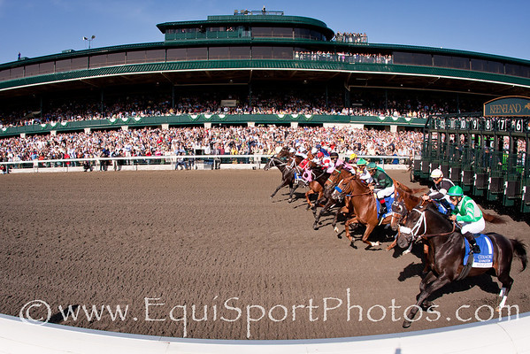 Exhi (Maria's Mon), Robby Albarado up, wins the Lexington Stakes at Keeneland 04.17.2010