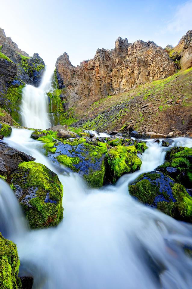 A small waterfall near Akureyri, Northeast Iceland.