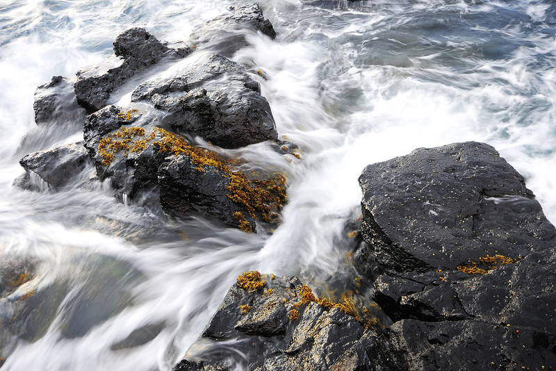 Seaside rocks near the Snaefellsjoekull glacier, Northwest Iceland.