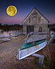 Full Moon Composite.  Southport, Maine.