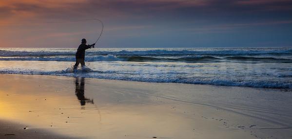 Fly Fisherman 1.  Coast Guard Beach, Cape Cod, MA.