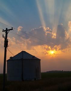 Grain Bin Sunrise
