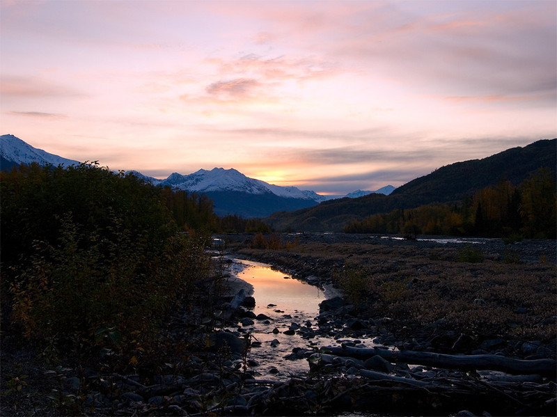Knik River sunrise.