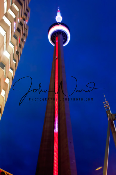 Toronto's CN Tower. At 1815 ft. Tallest freestanding structure in the world from 1975 to 2007, tallest structure in the western hemisphere.