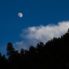 Moon Over Silhouetted Utah Mountain