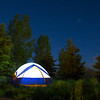 Tent Camping in Utah Mountains