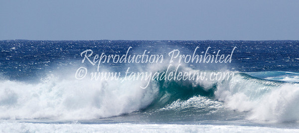 The surf at Ho'okipa, Maui. May 2012