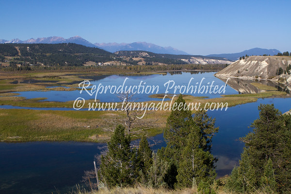 A fall afternoon over the wetlands, north of Invermere. September 2012