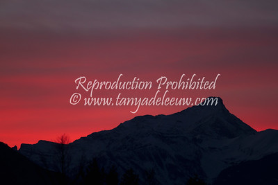 Winter solstice sunset over Mt Nelson. Dec 2011