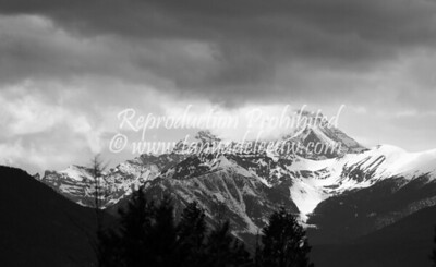 Spring storms over Mt Nelson near Invermere, BC, Canada. May 2012