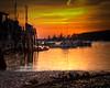 Sunrise at Owls Head Bay.  Owls Head, Maine.