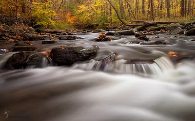 Downstream Brandywine Falls  Cuyahoga Valley National Park, Ohio