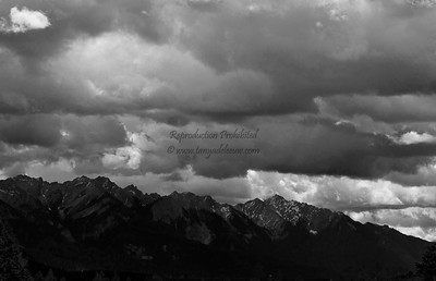 Dramatic skies over the Rockies. July 2011.