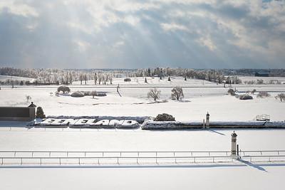 Keeneland Winter snow