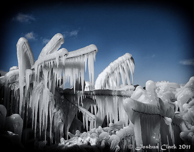 Ice formations at Cleveland Ohio Edgewater Park