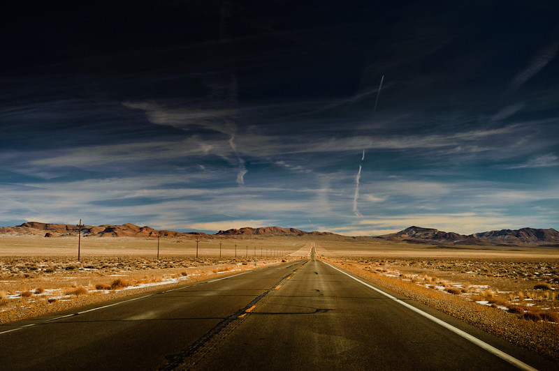 On the Road back to Utah through the middle of Nevada