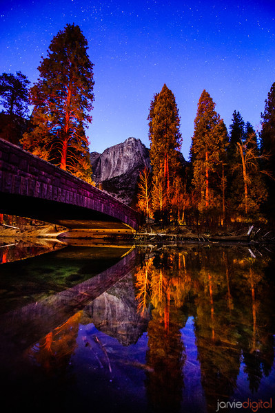 Twilight in Yosemite national park is a bridge from Sunset to Night