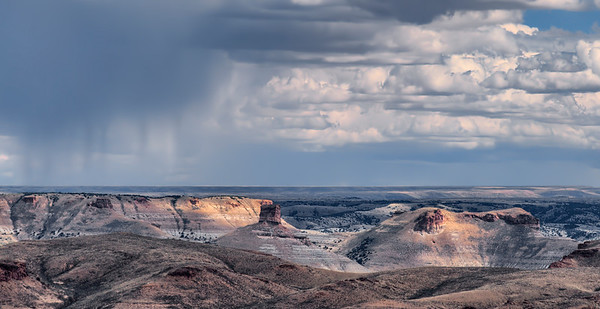 Storm Over The Wyoming Badlands