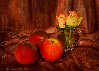 peaches with roses