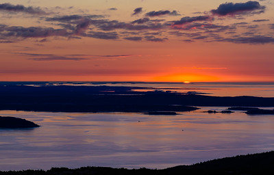 First Light of Dawn Acadia National Park Maine