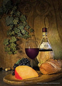 Wine and Cheese still life 2