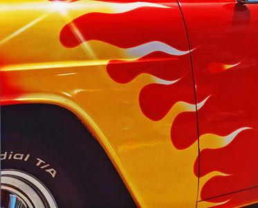 Classic car closeup.