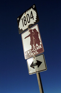 Lewis and Clark Road Sign - photo by NPS