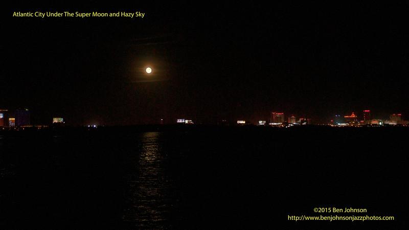 Super Moon Above The Atlantic City Skyline September 27, 2015