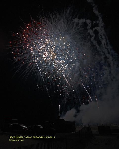Revel Hotel Atlantic City sponsored Labor Day Fireworks from Revel Beach on September 1, 2012