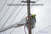 Atlantic City Electric Company lineman repair damaged pole at Delilah Road and New Road in Pleasantville New Jersey in the aftermath of Hurricane Sandy