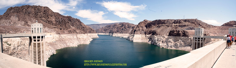 Panoramic View Of The Inlet To Lake Meade From The Hoover Dam Merged From 9 Seperate Images In Camera Raw