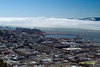 San Francisco Bay and The Golden Gate Bridge. Image taken from the top of The Hoyt Tower
